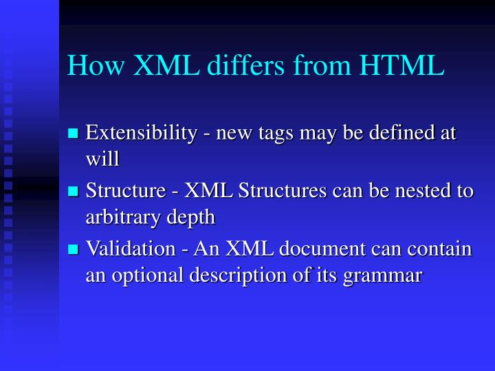 How XML differs from HTML