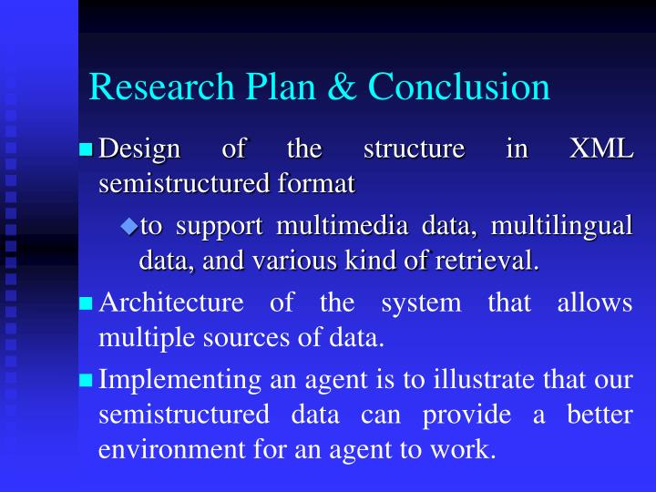 Research Plan & Conclusion