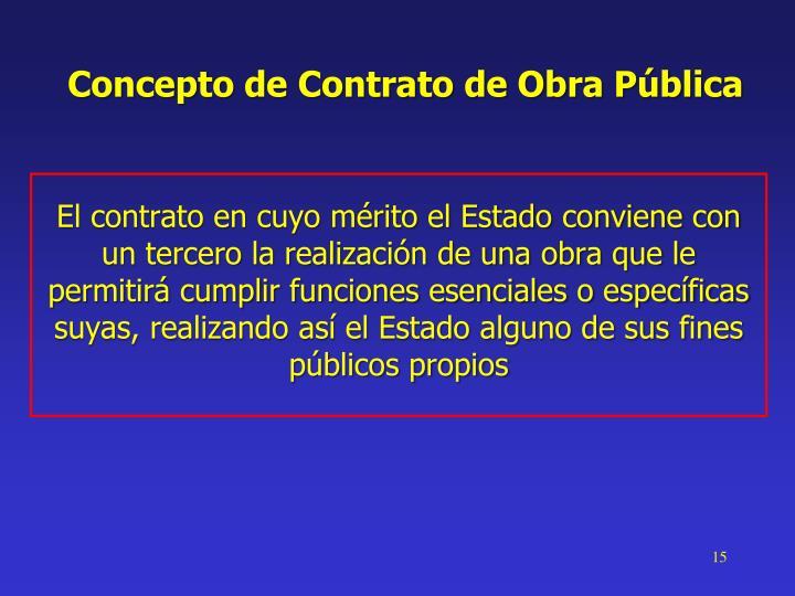 Concepto de Contrato de Obra Pública