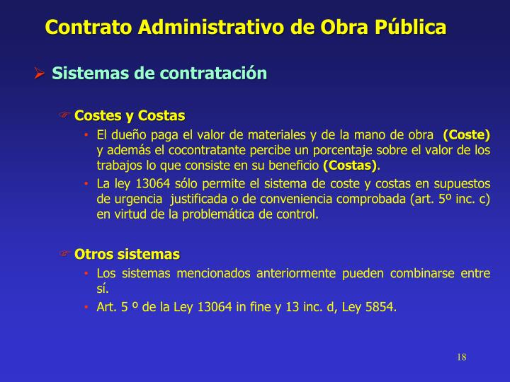 Contrato Administrativo de Obra Pública