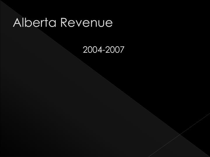 Alberta Revenue
