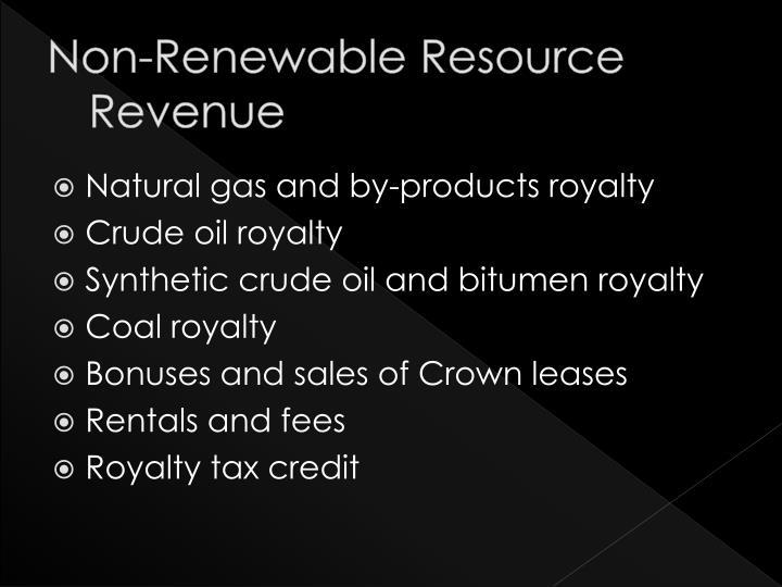 Non-Renewable Resource Revenue