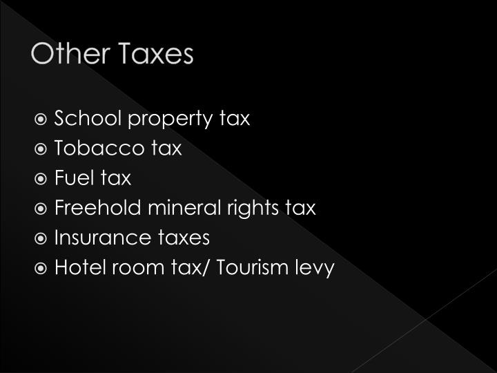 Other Taxes