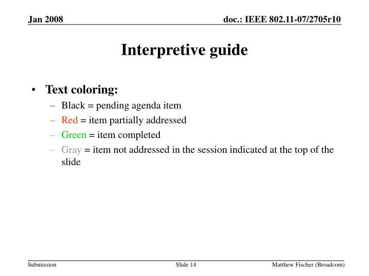 Interpretive guide