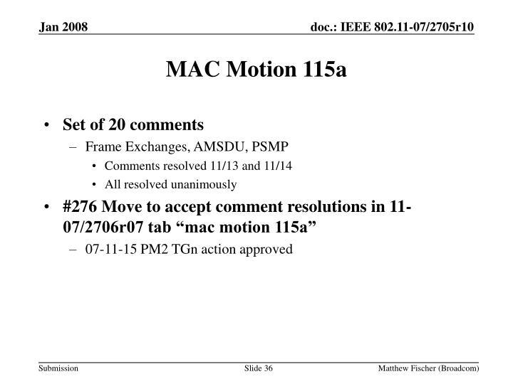 MAC Motion 115a