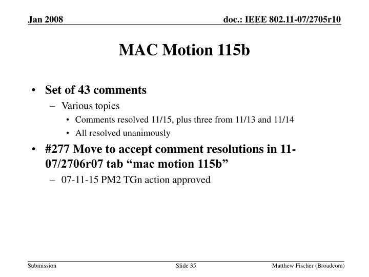 MAC Motion 115b