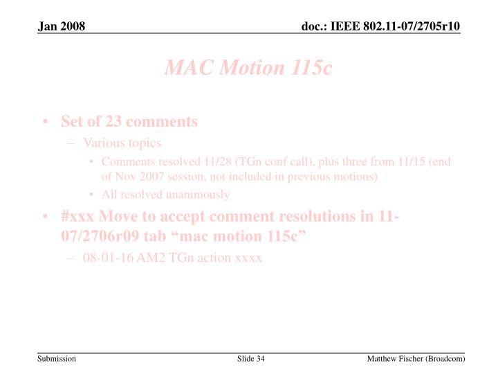 MAC Motion 115c