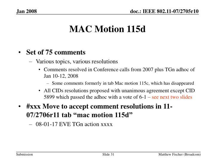 MAC Motion 115d