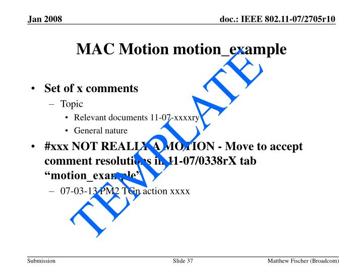 MAC Motion motion_example