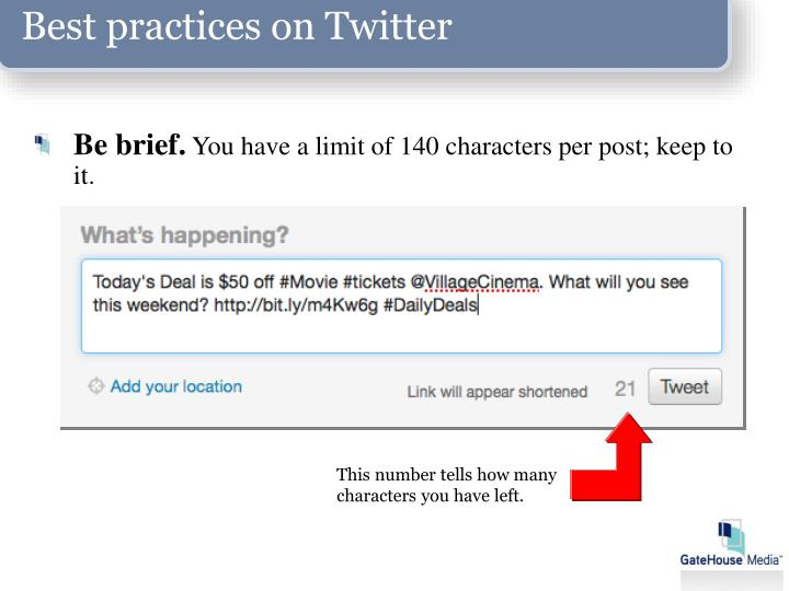 Best practices on Twitter