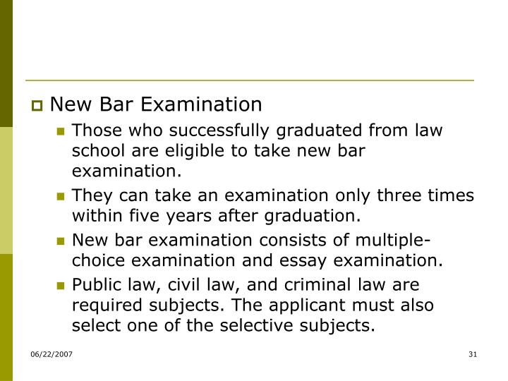 New Bar Examination