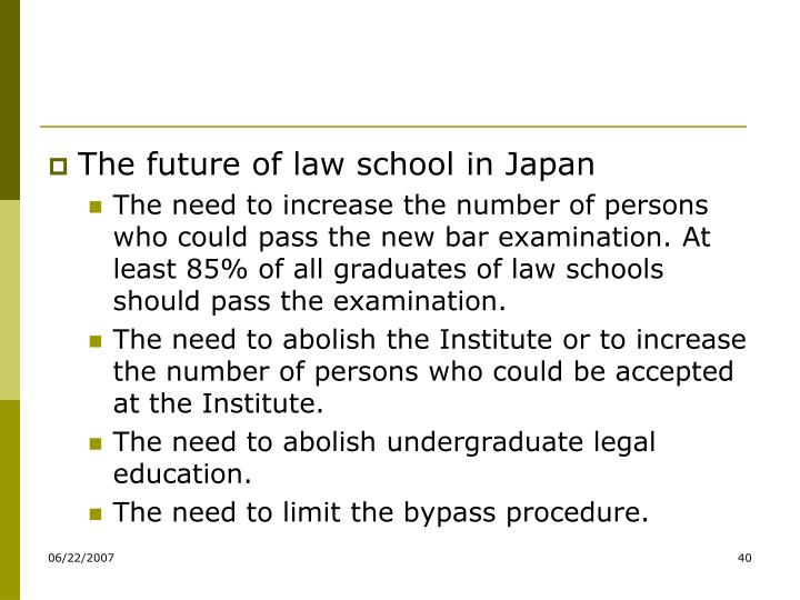 The future of law school in Japan