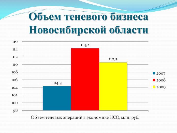 Объем теневого бизнеса Новосибирской области