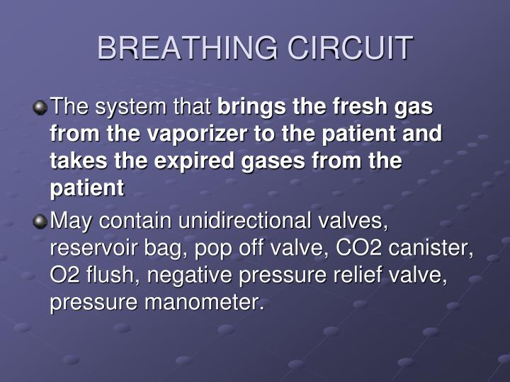 BREATHING CIRCUIT