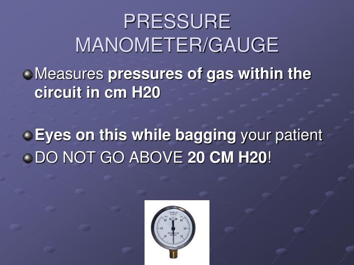 PRESSURE MANOMETER/GAUGE
