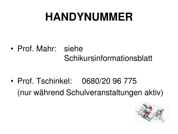HANDYNUMMER