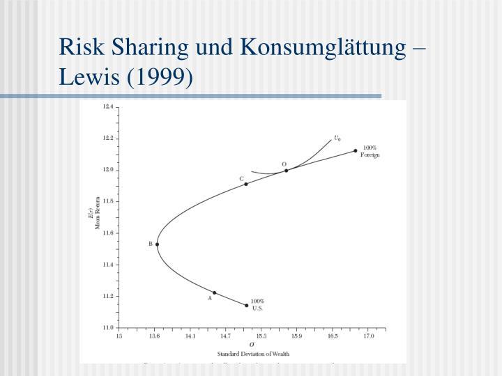 Risk Sharing und Konsumglättung –