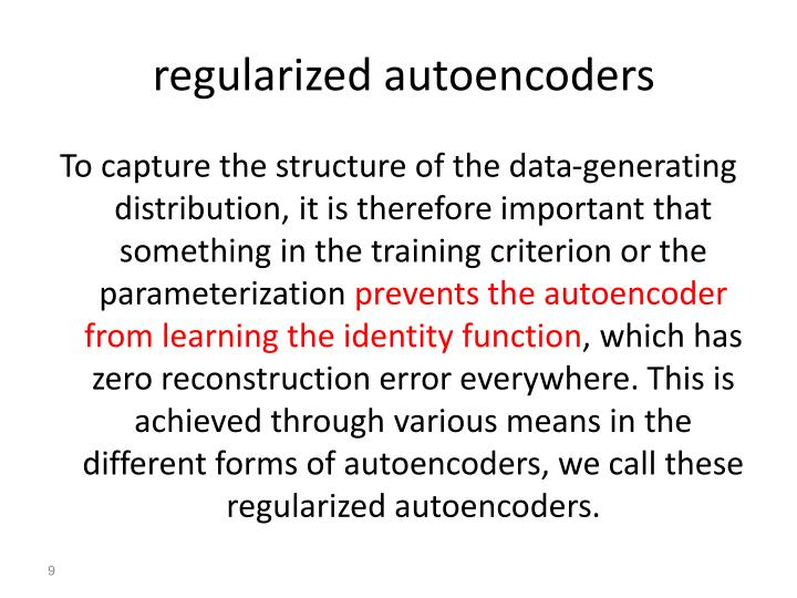 regularized autoencoders