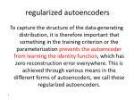 regularized autoencoders