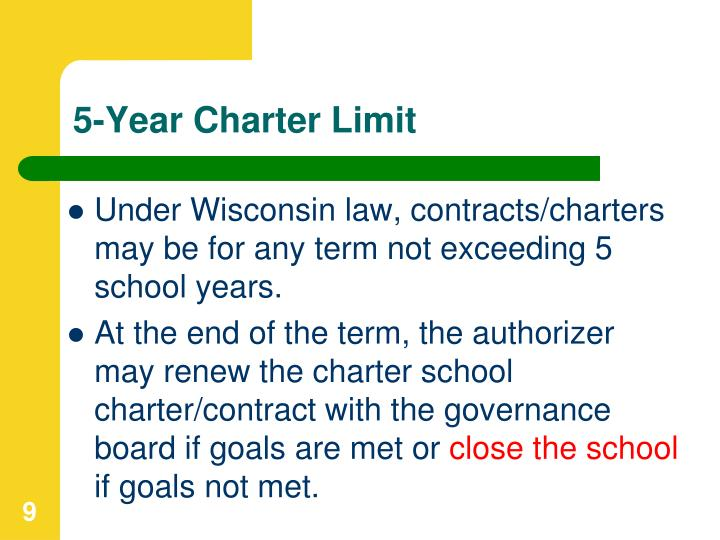 5-Year Charter Limit