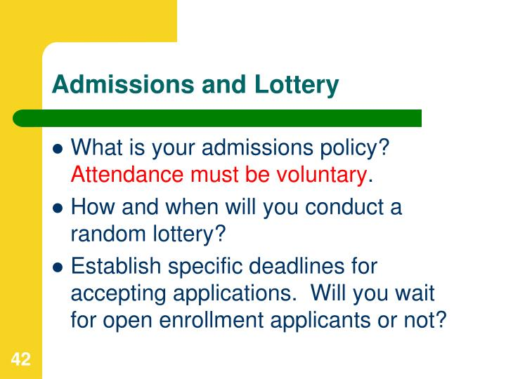 Admissions and Lottery
