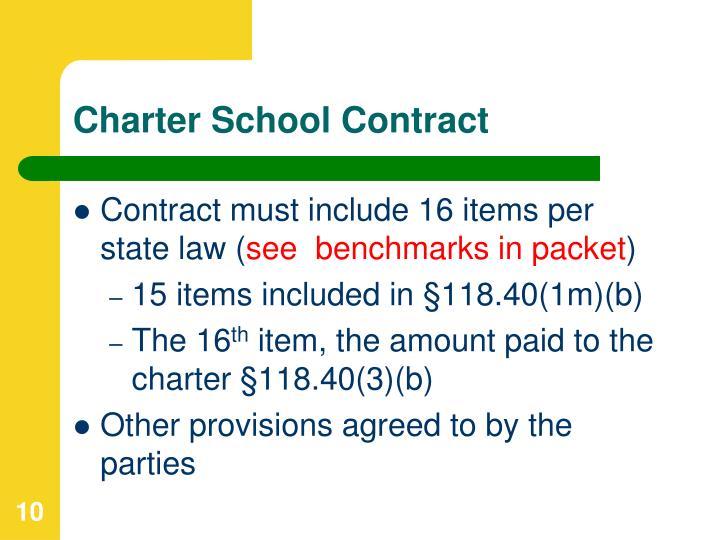 Charter School Contract