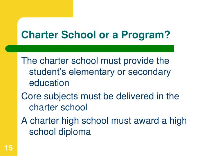 Charter School or a Program?