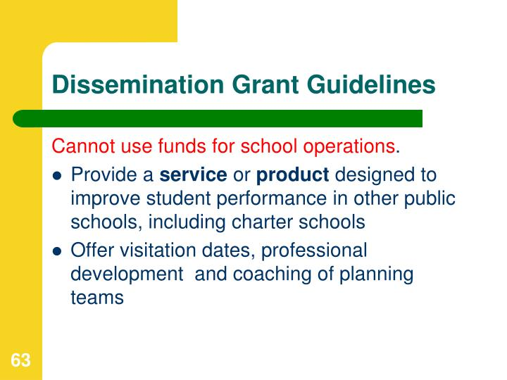 Dissemination Grant Guidelines