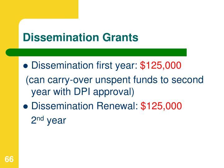 Dissemination Grants