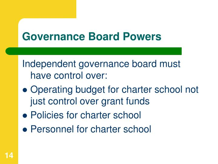Governance Board Powers