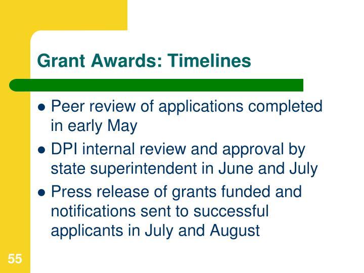 Grant Awards: Timelines