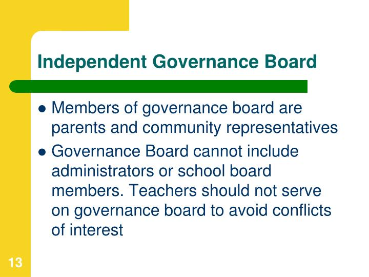 Independent Governance Board