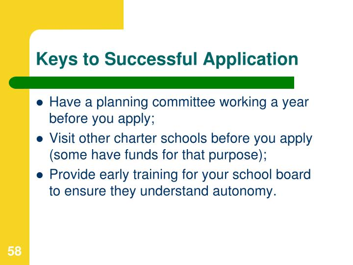 Keys to Successful Application