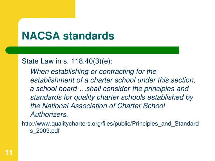NACSA standards