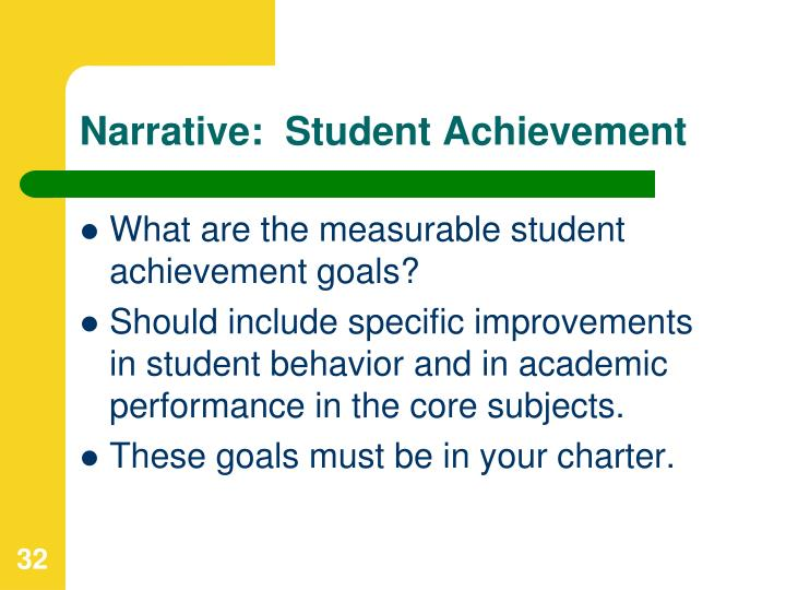 Narrative:  Student Achievement
