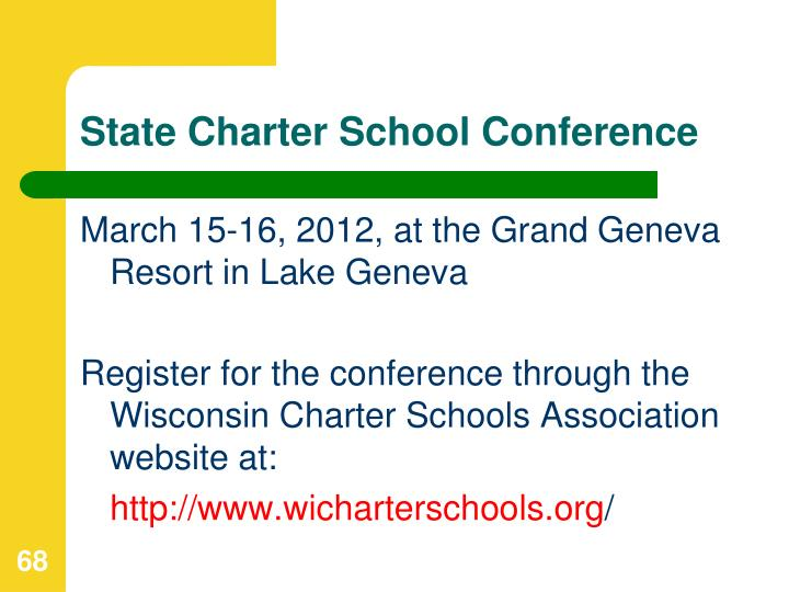 State Charter School Conference