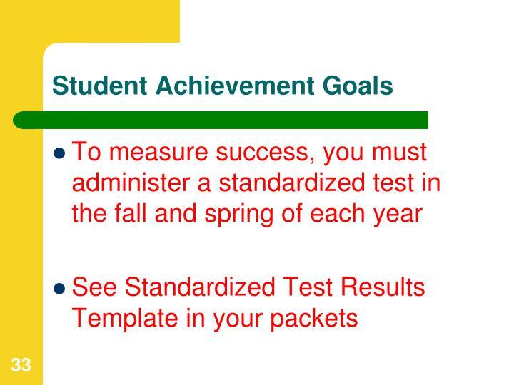 Student Achievement Goals