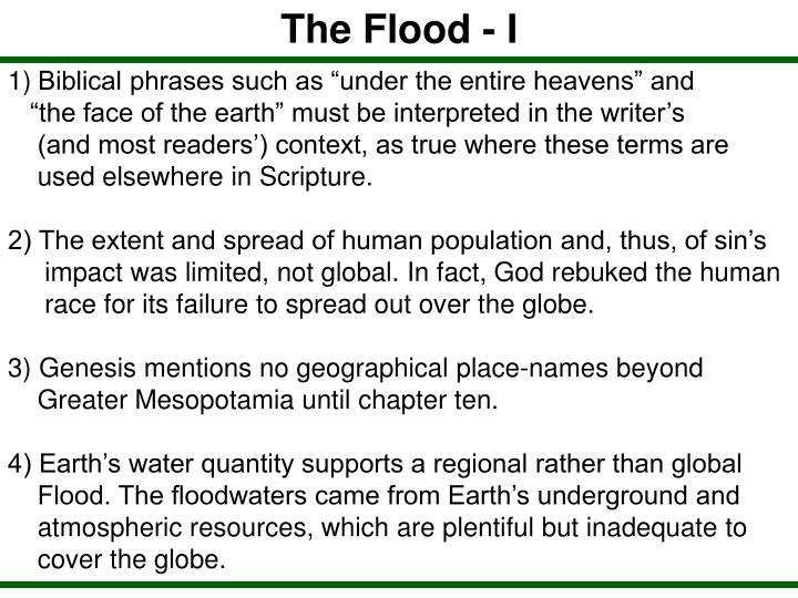 The Flood - I