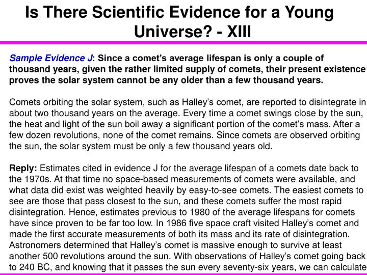 Is There Scientific Evidence for a Young