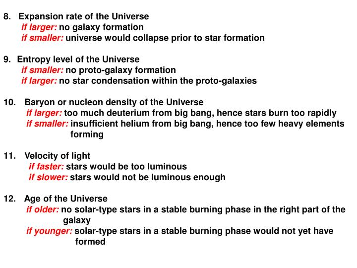 8.   Expansion rate of the Universe