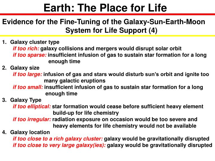 Earth: The Place for Life