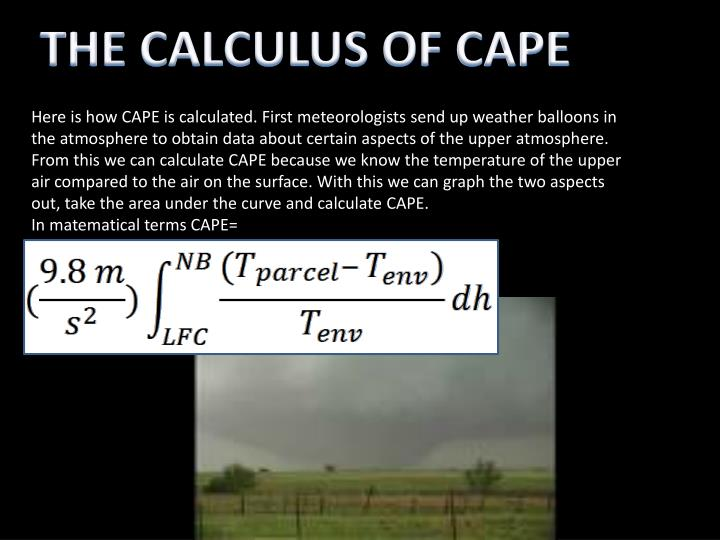 THE CALCULUS OF CAPE