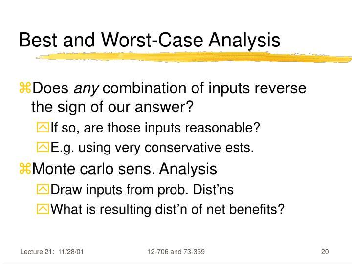 Best and Worst-Case Analysis