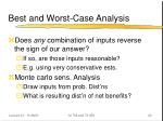 best and worst case analysis