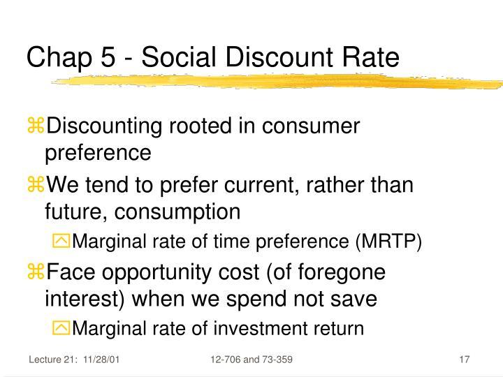 Chap 5 - Social Discount Rate