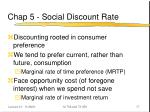 chap 5 social discount rate