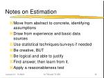 notes on estimation