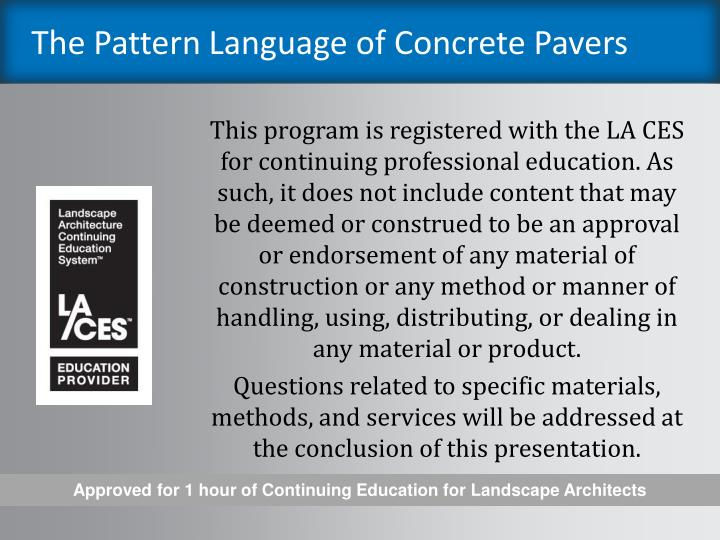 The pattern language of concrete pavers2