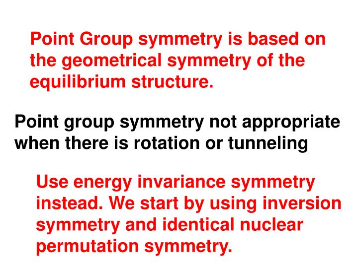 Point Group symmetry is based on