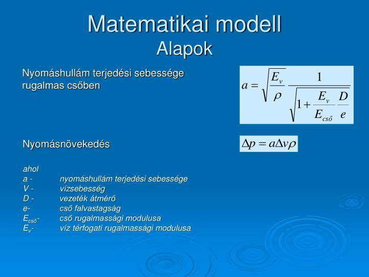 Matematikai modell